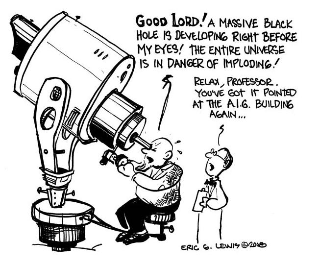 Eric G. Lewis' AIG Cartoon